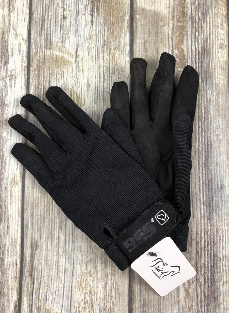 SSG All Weather Riding Gloves in Black - Ladies Universal (7/8)