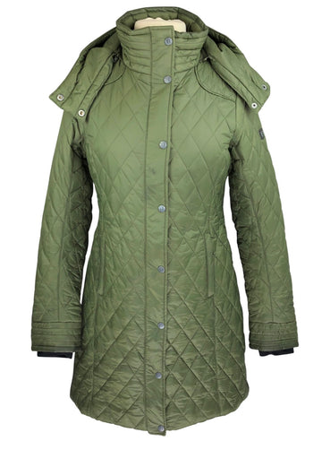view of Noble Outfitters Warmup Quilted Coat in Green