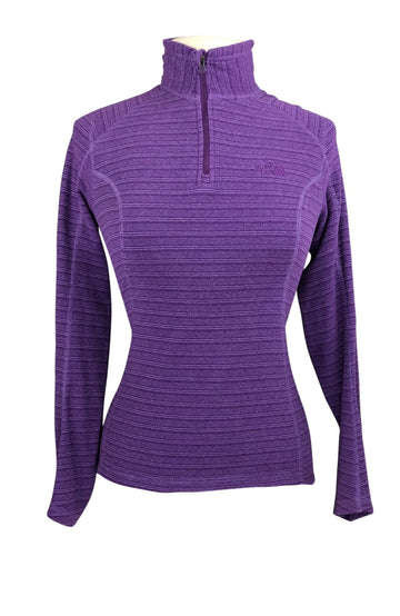 front view of The North Face Fleece Pullover in Purple Stripe