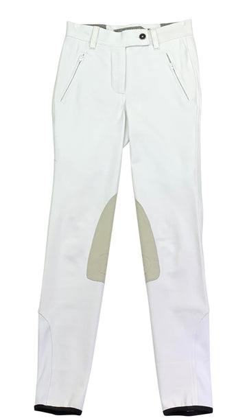 front view of Asmar Equestrian Classic Breeches in White