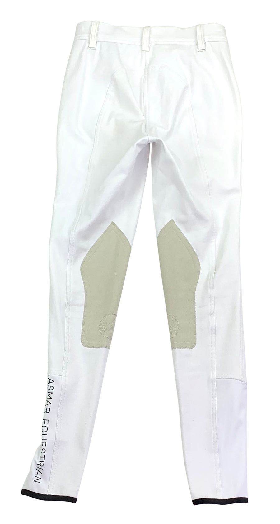 back view of Asmar Equestrian Classic Breeches in White