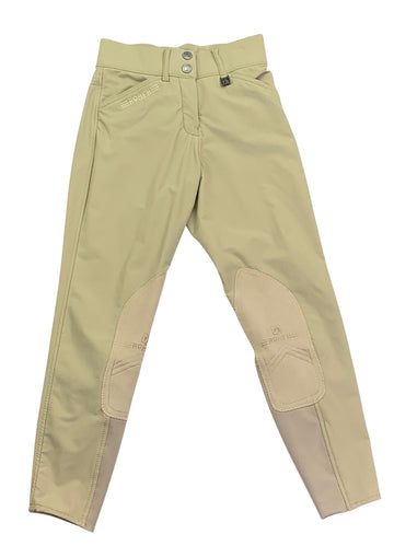 front view of Romfh Sarafina Knee Patch Breeches in Tan
