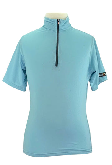 front view of Kerrits Ice Fil Flex Short Sleeve Shirt in Crystal