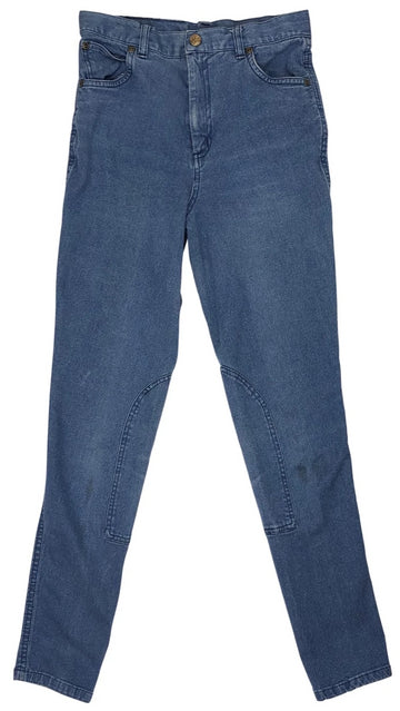 front view of TuffRider Stonewashed Riding Jeans in Denim