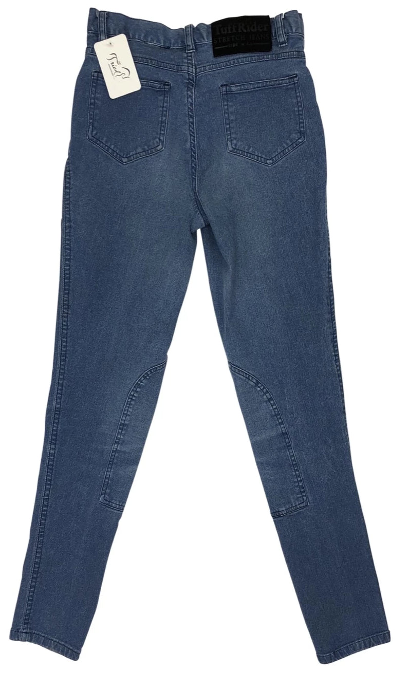 back view of TuffRider Stonewashed Riding Jeans in Denim