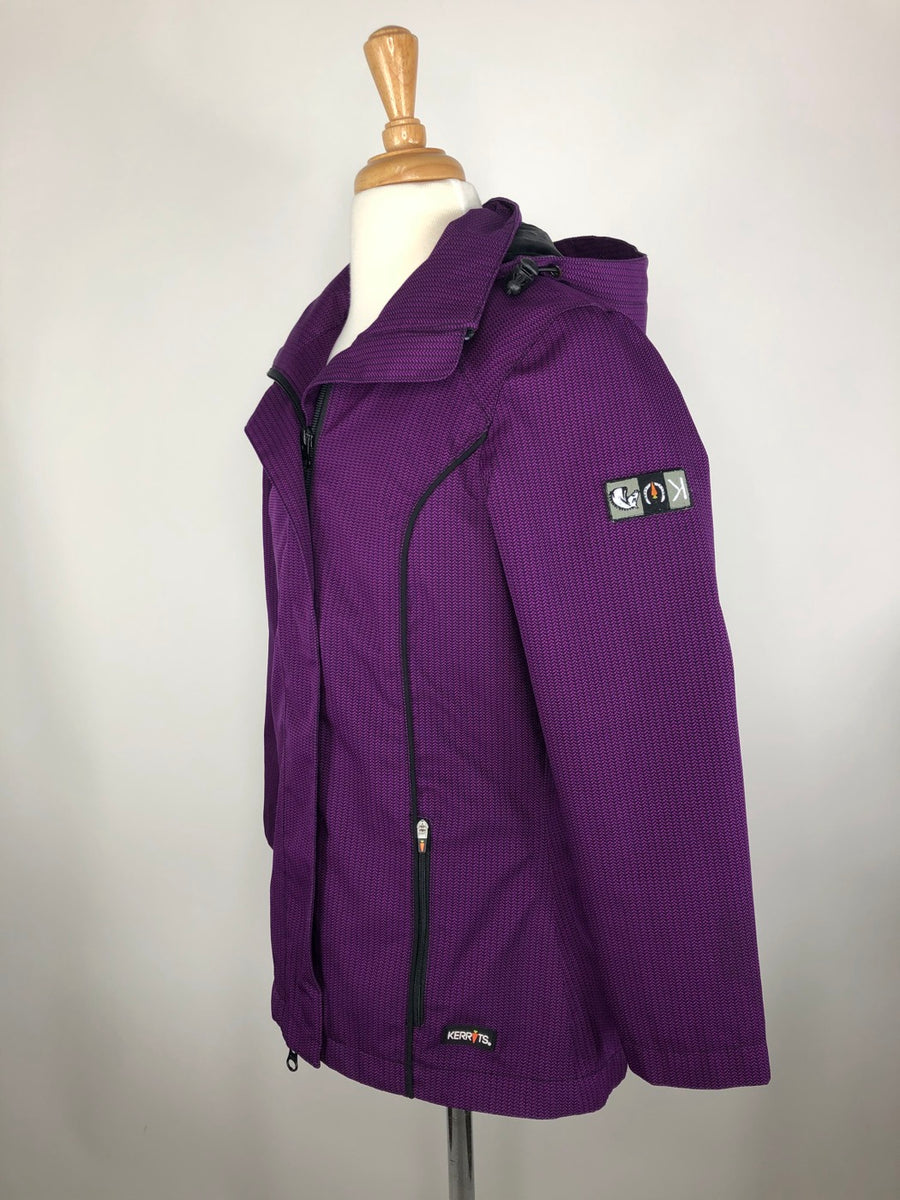 Kerrits Barn Jacket in Purple - Left Side View