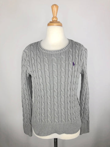 Polo Ralph Lauren Cable-Knit Sweater in Grey - Children's Large