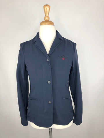 Cavalleria Toscana Technical Competition Jacket in Navy -  Front View