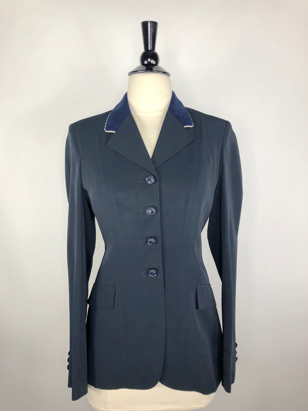 Grand Prix Techlite Hunt Coat  in Navy w/Navy Collar - Women's 10R (US 4R)