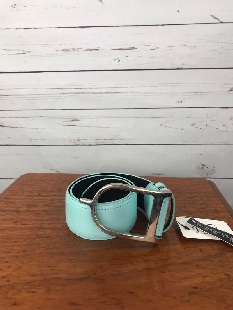 Sandy Duftler Designs Spur Belt in Aqua/Silver - Size 26