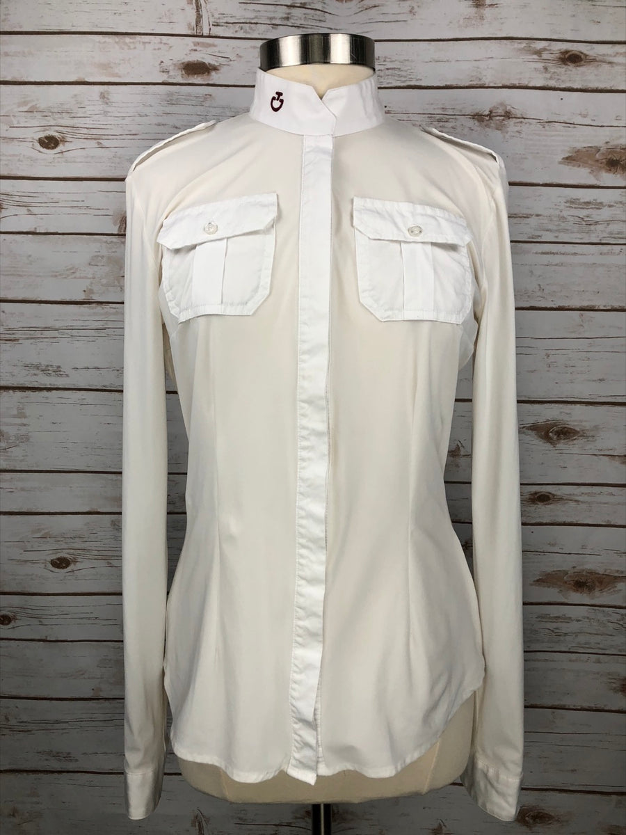 Cavalleria Toscana Pocket Show Shirt in White -  Front View