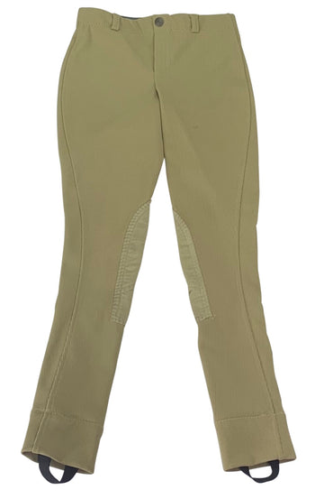 TuffRider Ribb Lowrise Pull On Jods in Tan