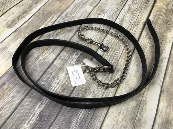 Jose Gonzales Leather Lead w/Chain in Black - 10ft