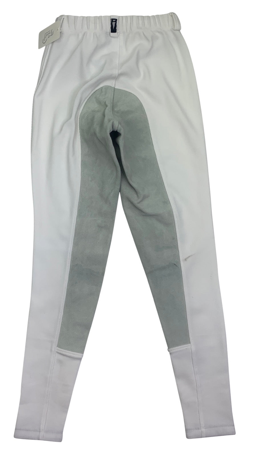 Back of Kerrits Microcord Full Seat Breeches in White