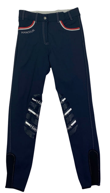 Harcour Jalisca France Fix System Grip Breeches in Navy
