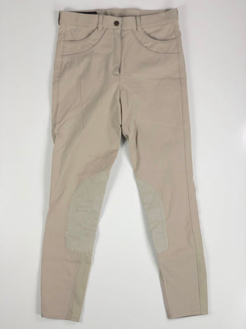 Ariat Olympia Knee Patch Breeches in Tan - Front View