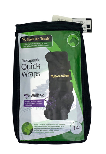 Back on Track Quick Wraps in Black