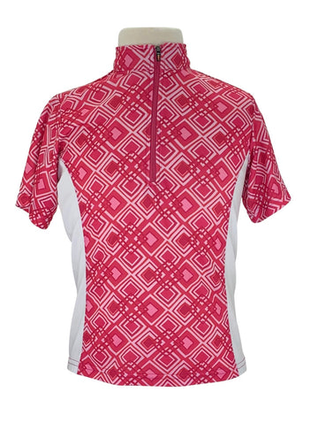Kerrits IceFil Printed Short Sleeve Shirt in Pink