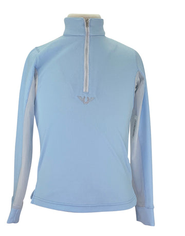 TuffRider Ventilated Technical Long Sleeve Sport Shirt in Glam Blue