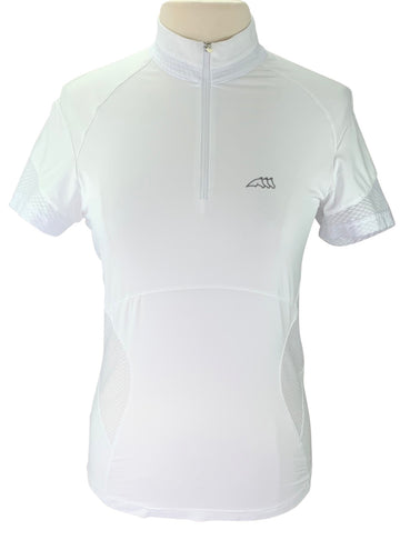 Equiline Short Sleeve Competition Shirt in White
