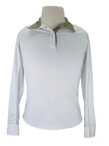 Essex Classic Talent Yarn Show Shirt in White/Multi Collar