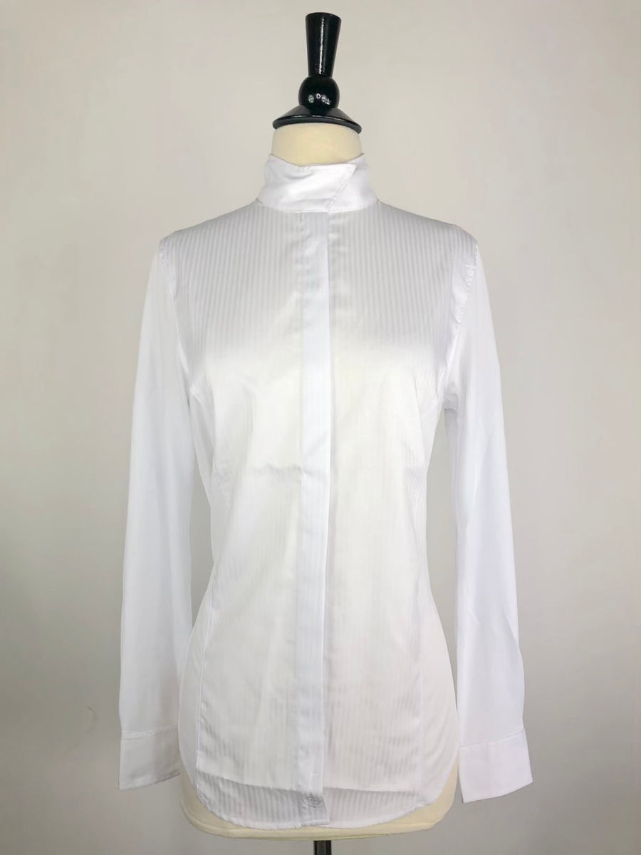 Ariat Triumph Long Sleeve Show Shirt in White-Front View