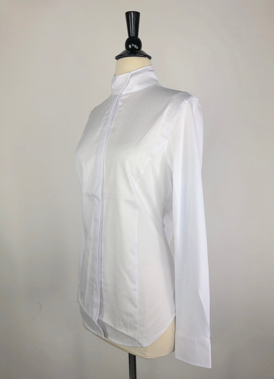 Ariat Triumph Long Sleeve Show Shirt in White-Left Side View
