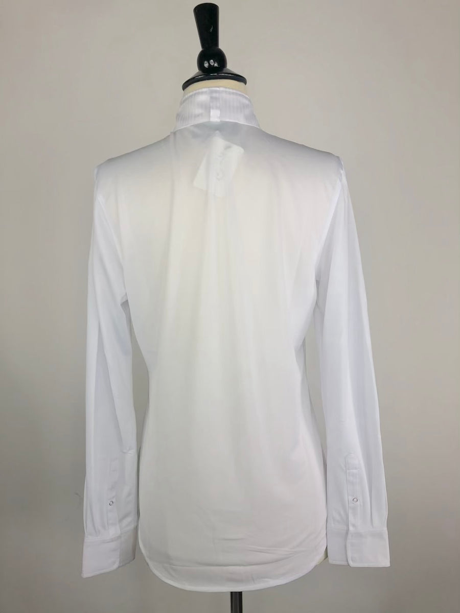 Ariat Triumph Long Sleeve Show Shirt in White-Back View
