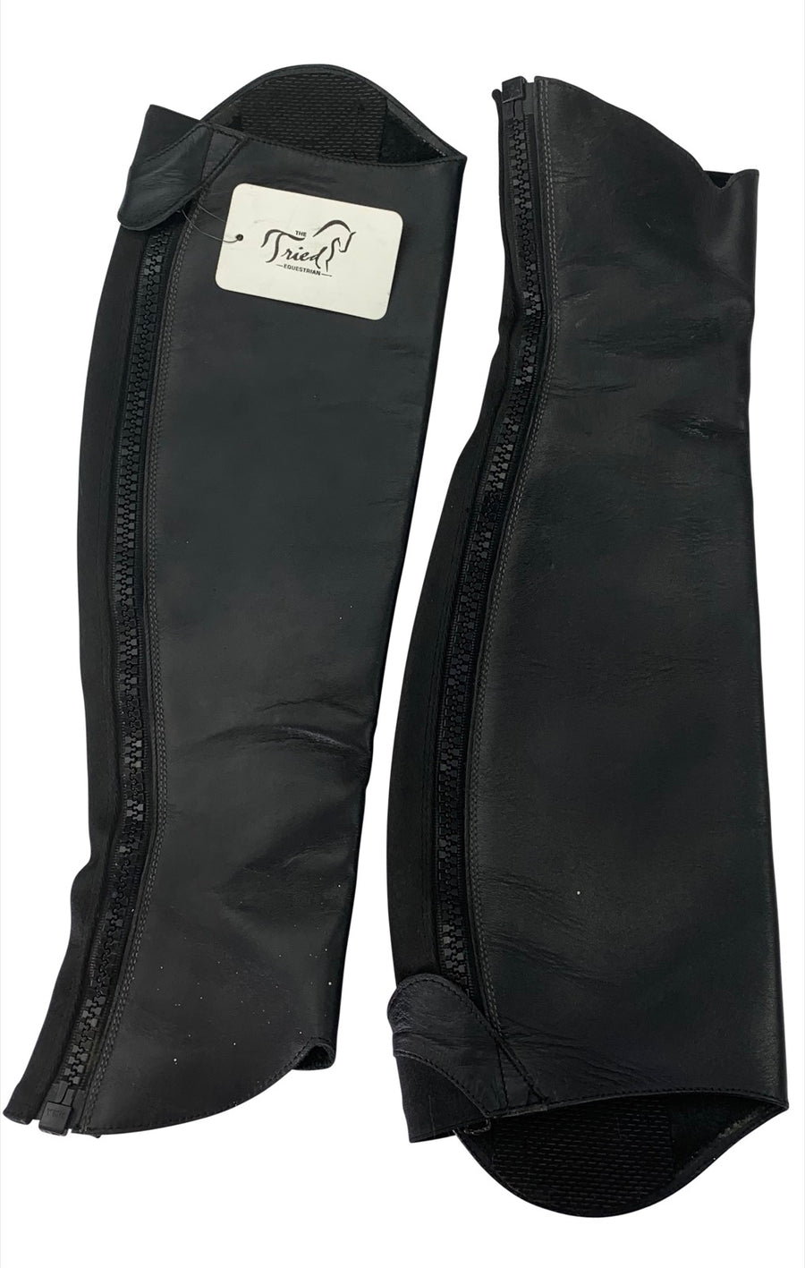 Inside of Tucci Time Harley Half Chaps in Black