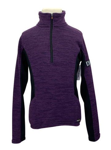 Kerrits Fleece Zip Neck in Purple
