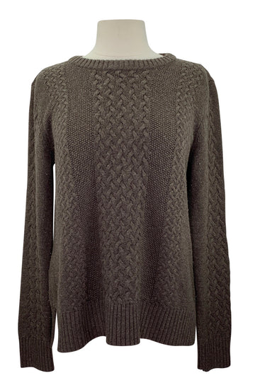 Asmar Equestrian Boyfriend Sweater Limited Edition in Brown