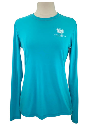 Asmar Equestrian AE Logo Long Sleeve Shirt in Teal