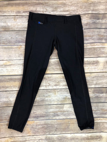 Irideon Issential Riding Tights in Black - Front View