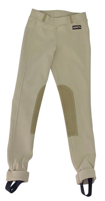 Kerrits Microcord Knee Patch Breeches  in Tan