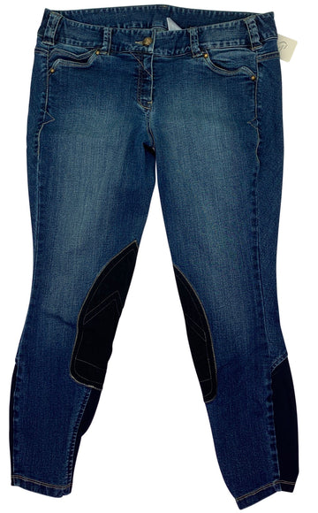 Ariat Whipstitch Knee Patch Breeches in Denim