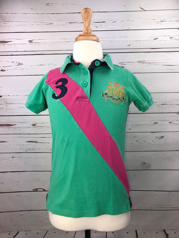 Joules Polo in Green - Children's 9/10