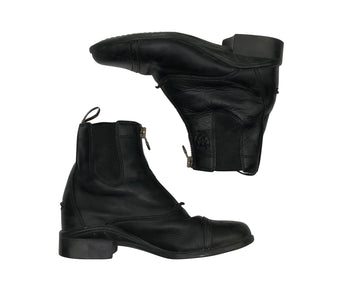 top view of Ariat Heritage II Zip Paddock Boots in Black