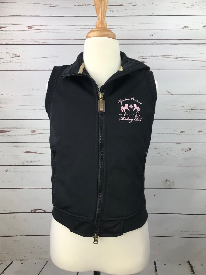 Equine Couture Riding Club Vest in Black - Children's Medium