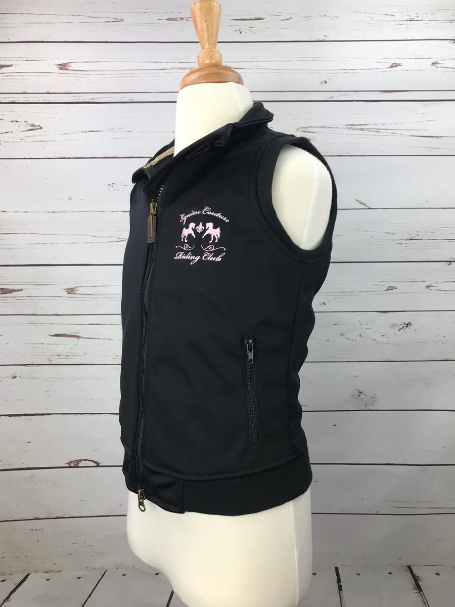 Equine Couture Riding Club Vest in Black -  Left Side View