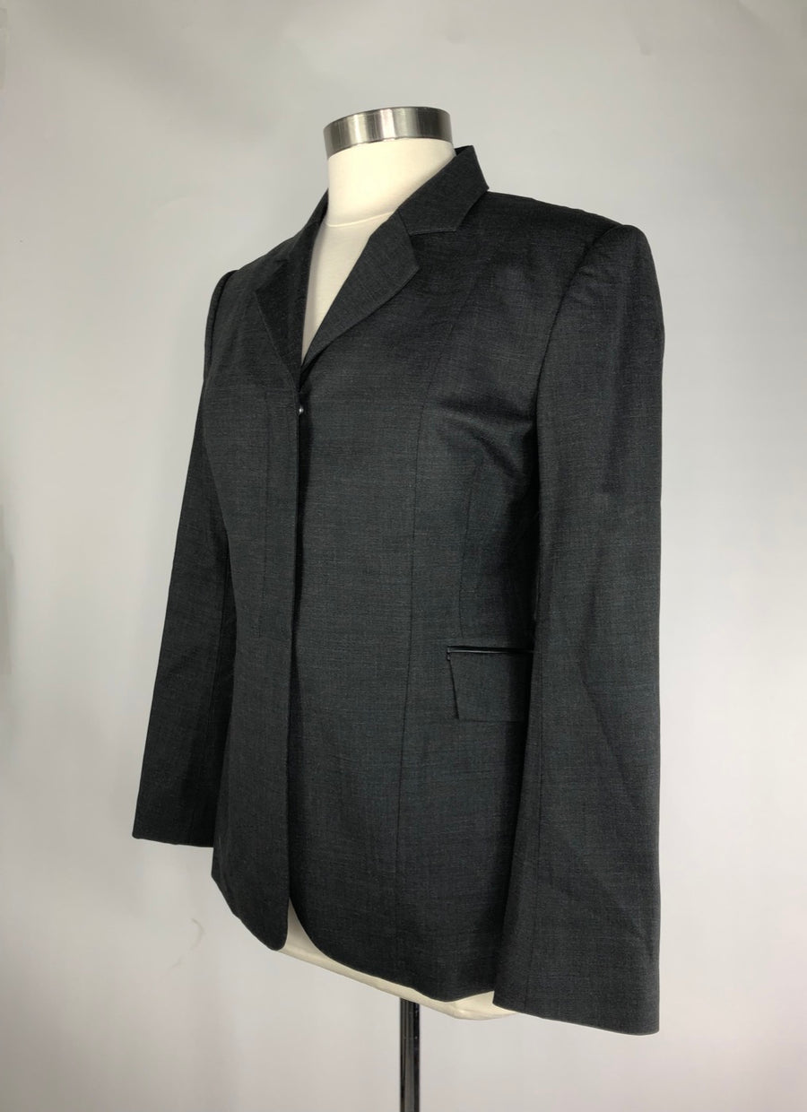Ariat Monaco Waterproof Show Coat in Charcoal- Left Side View