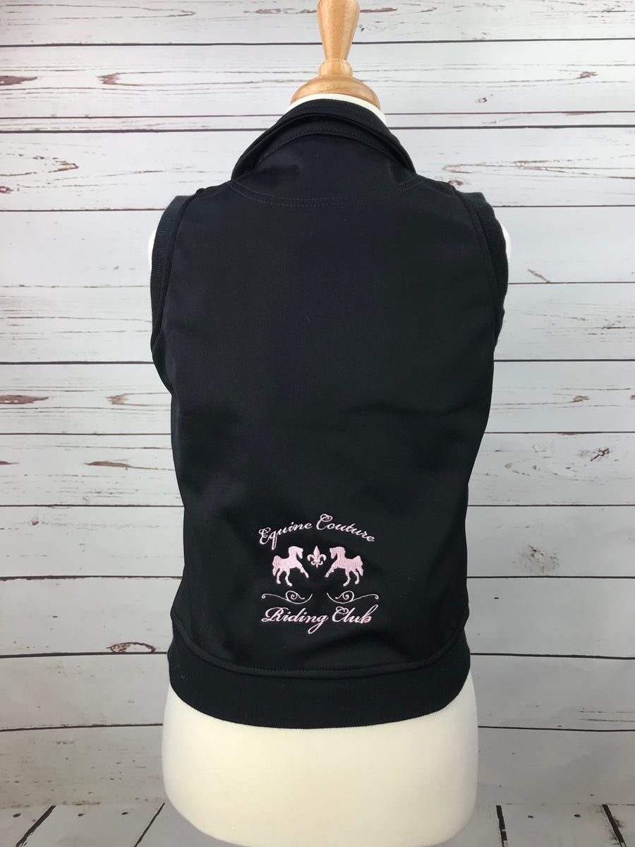 Equine Couture Riding Club Vest in Black -  Back View