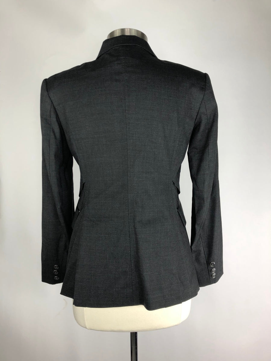 Ariat Monaco Waterproof Show Coat in Charcoal- Back View