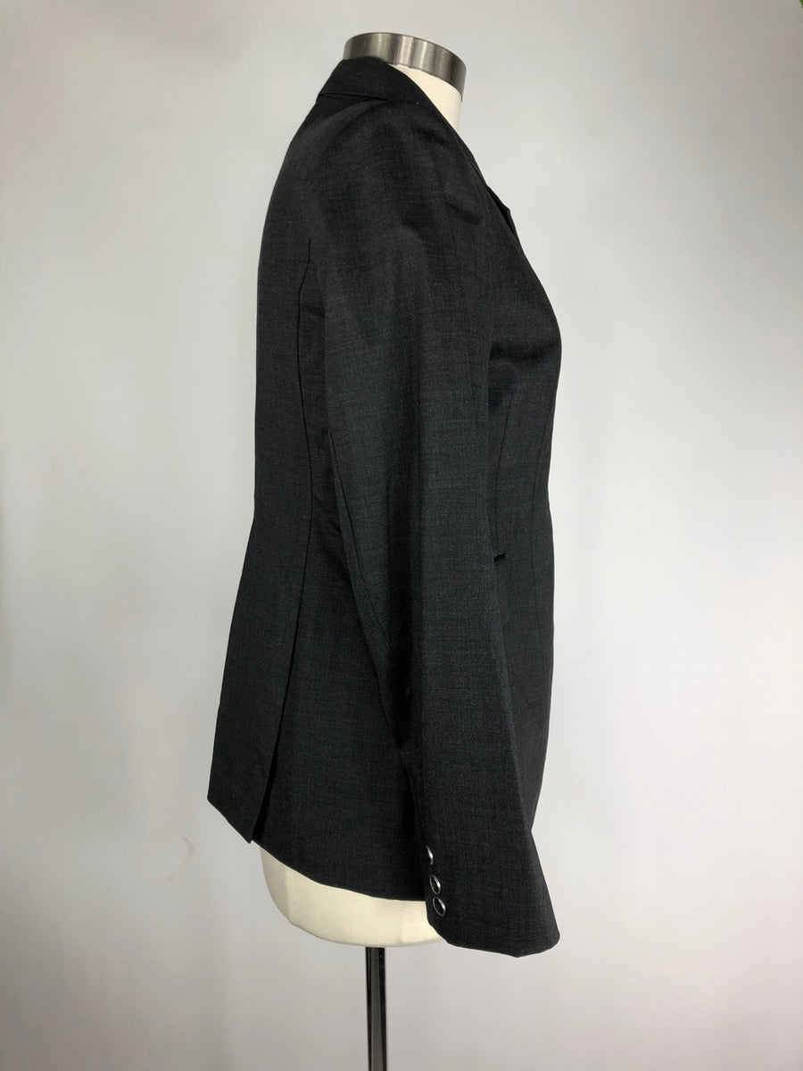 Ariat Monaco Waterproof Show Coat in Charcoal- Right Side View