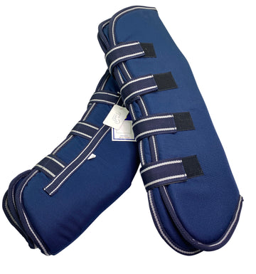 Full Set Shipping Boots in Navy