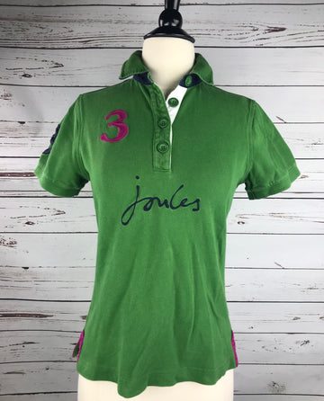 Joules Polo in Olive Green - Front View