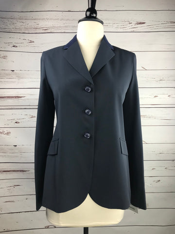 Grand Prix TechLite Show Jacket in Navy/Suede Collar - Front View