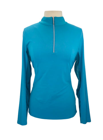 front view of The Wellington Collection Extreme Air Shirt in Turquoise