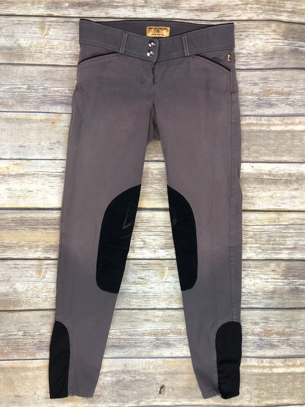 Devon-Aire Signature Classic Breeches in Grey/Black - Women's 26