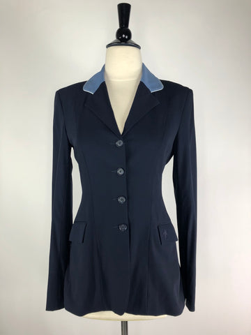 Allon Stretch Hunt Coat in Navy/Lt. Blue- Front View