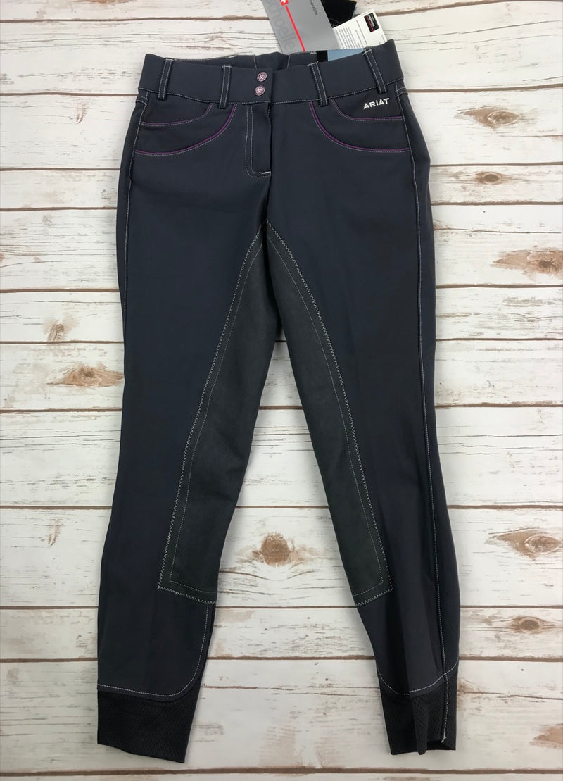 Ariat Olympia Acclaim Regular Rise Full Seat Breeches in FEI Gray - Women's 24R